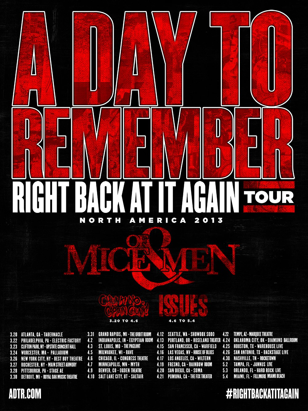 Right Back At It Again Tour 2013
