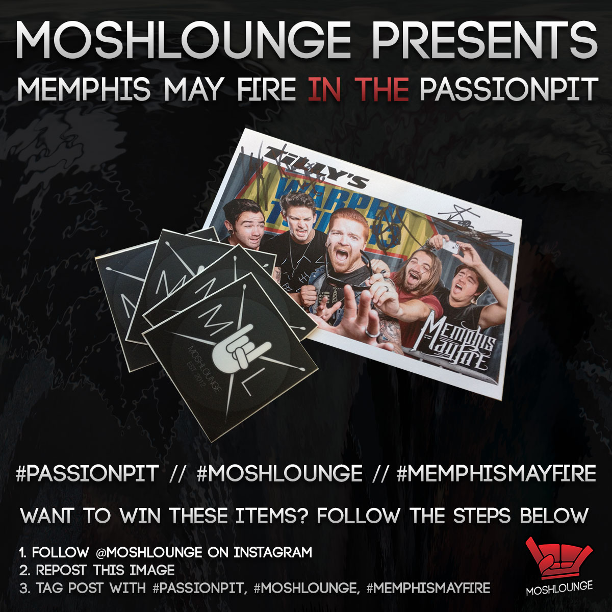 PassionPit Giveaway Instagram - Memphis May fire