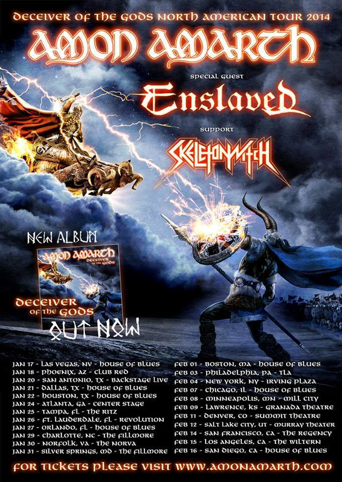 Amon Amarth - Deceiver of the Gods North American Tour